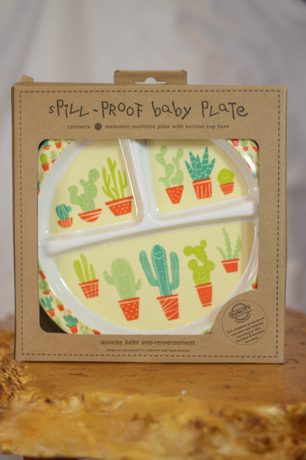 Sugarbooger Happy Cactus Divided Suction Plate