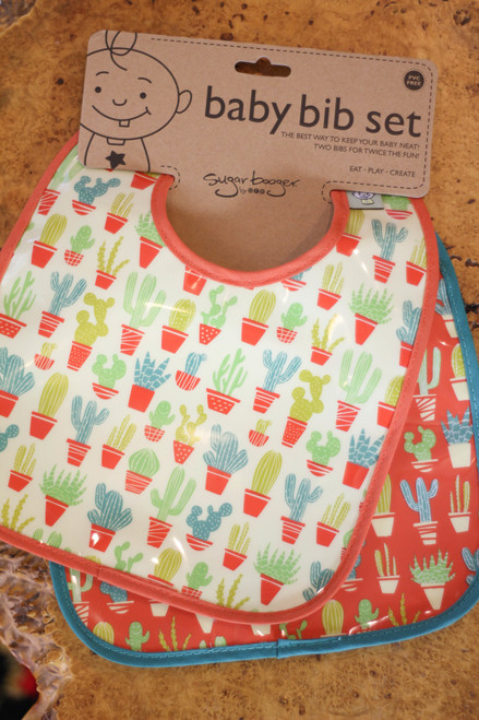 Sugarbooger Happy Cactus Mini Bib Gift Set of Two