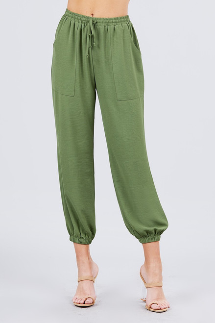 Olive Jogger with pockets