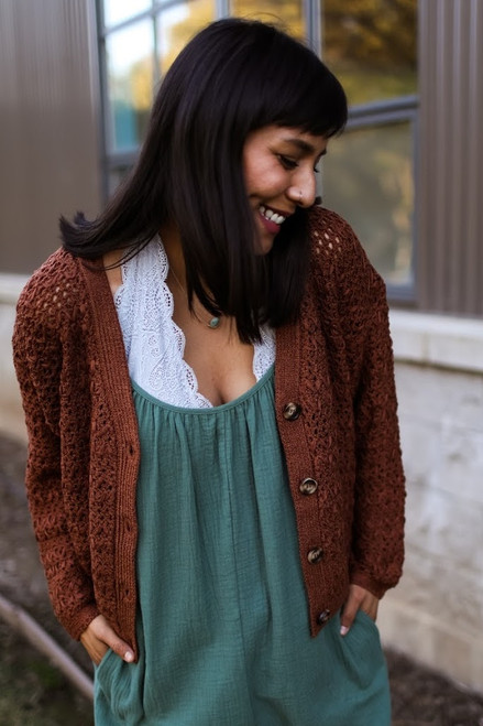 Crocheted Button up Cardigan