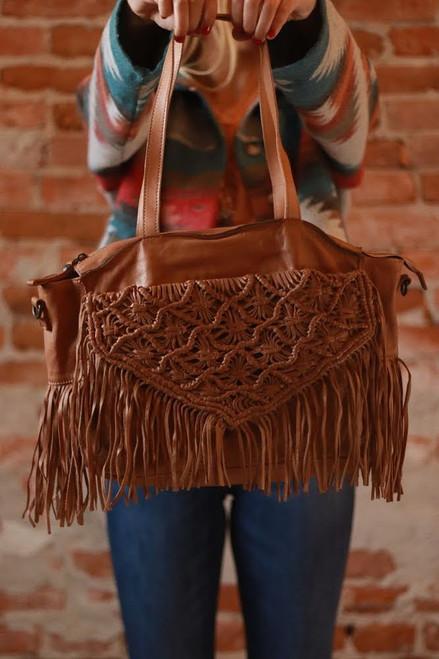 The Bretti Genuine Leather Shoulder Bag by Kompanero Taupe