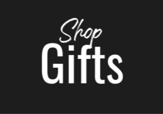 Black box with white text reading: Shop Gifts