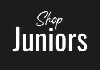 Black box with white text reading: Shop Juniors