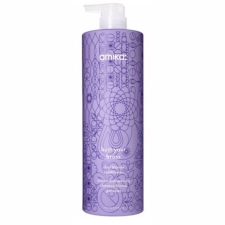 Amika Bust Your Brass Cool Blonde Conditioner - Liter