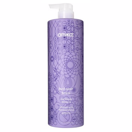 Amika Bust Your Brass Cool Blonde Shampoo - Liter