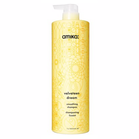 Amika Velveteen Smoothing Shampoo - Liter