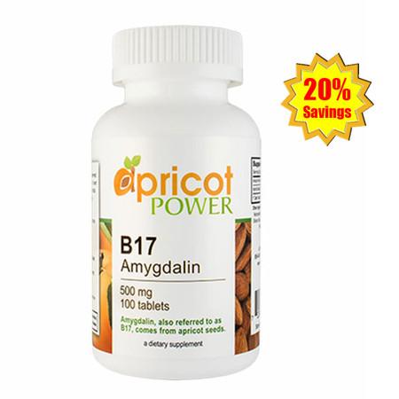 Apricot Power B17 Amygdalin 500mg Tablet - 100 Tabs x 3 Bottles