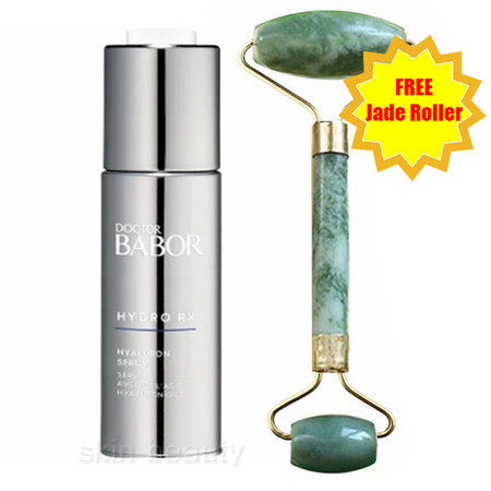 Doctor Babor Hydro-RX Hyaluron Serum - 1 oz and Jade Face Roller