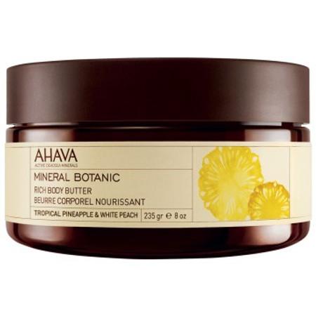 AHAVA Mineral Botanic Rich Body Butter - Pineapple & White Peach - 8.0 oz