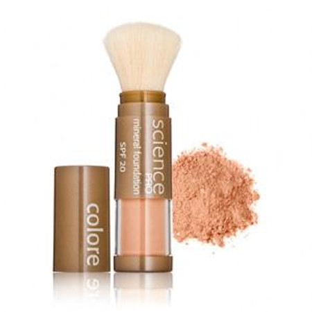 Colorescience Pro Loose Mineral Foundation Sunscreen SPF 20 Powder Brush - Not Too Deep - .21 oz