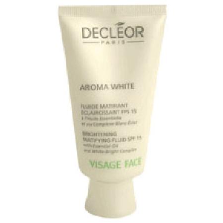 DECLEOR Aroma White Brightening Matifying Fluid SFP 15, 1.69 oz