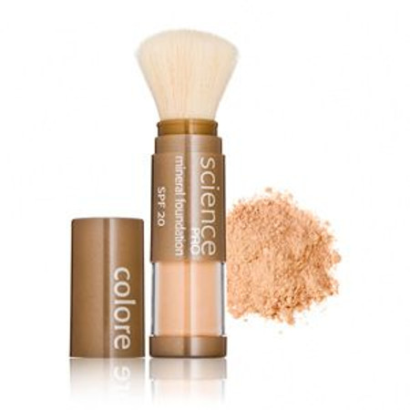 Colorescience  Loose Mineral Foundation Sunscreen SPF 20 Powder Brush - A Taste of Honey - .21 oz (302107898)