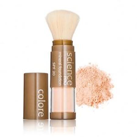 Colorescience Pro Loose Mineral Foundation Sunscreen SPF 20 Powder Brush - Second Skin - .21 oz