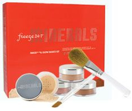 Freeze 24/7 & Glow Mineral Makeup Basics Kit - Medium/Tan