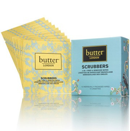 Butter London Scrubbers 2-in-1 Prep & Remover Wipes
