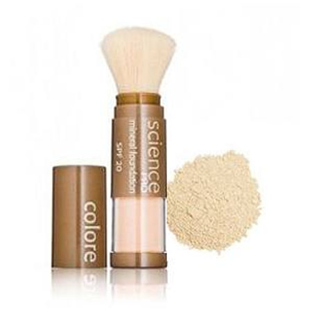 Colorescience  Loose Mineral Foundation Sunscreen SPF 20 Powder Brush - Pass the Butter - .21 oz (302100162)