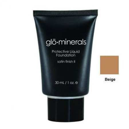 GloMinerals Protective Liquid Foundation-Satin II, 1.4 oz - Beige