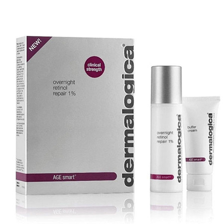 Dermalogica AGE Smart Overnight Retinol Repair 1% - 0.85 oz with Buffer Cream