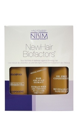 Nisim New Hair Biofactors Normal to Oily Tripack (8 oz Shampoo, Conditioner, Extract)