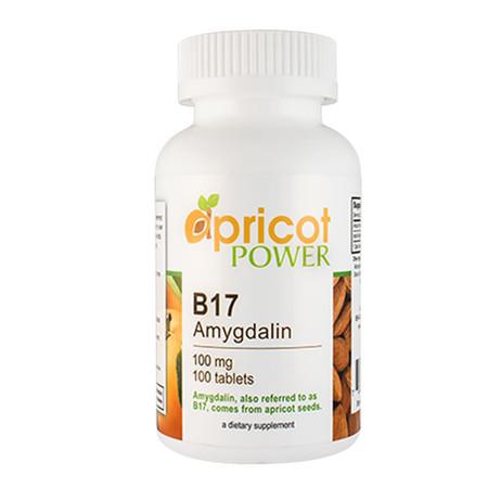 Apricot Power B17 Amygdalin 100mg Tablet - 100 Tabs
