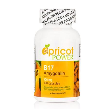 Apricot Power B17 Amygdalin 500mg Capsules - 100 Caps