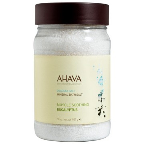 AHAVA DeadSea Salt Eucalyptus Bath Salt - 32 oz
