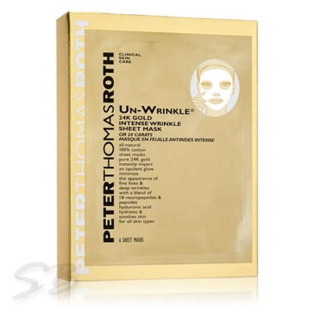 Peter Thomas Roth Un-wrinkle 24K Gold Intense Wrinkle Sheet Mask - 6 Sheets