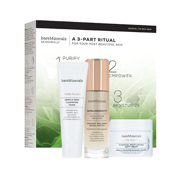 Bare Escentuals bareMinerals A 3 Part Ritual Normal To Dry Skin Kit - 3 pcs
