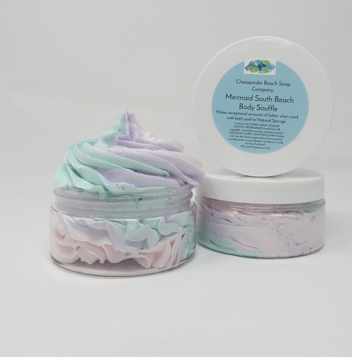 Body Souffle Whipped Scented Hydrating Body Wash that makes unstoppable lather.  Placed a finger tipped amount into the middle of your pouf and work it to a bubble frenzy