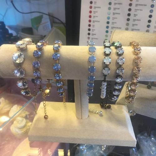 12mmo square cushion cut  swarvoski bracelet