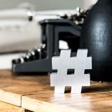 Brushed Aluminum Gotham Hashtag