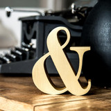 Anodized Gold Didot Ampersand