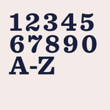 Sentinel slab serif font bold traditional for house numbers, letters and signs