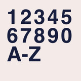 Helvetica Bold modern sans serif font for house numbers, letters and signs