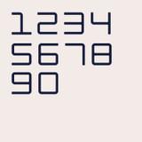 Ultra modern geometric mono width house numbers