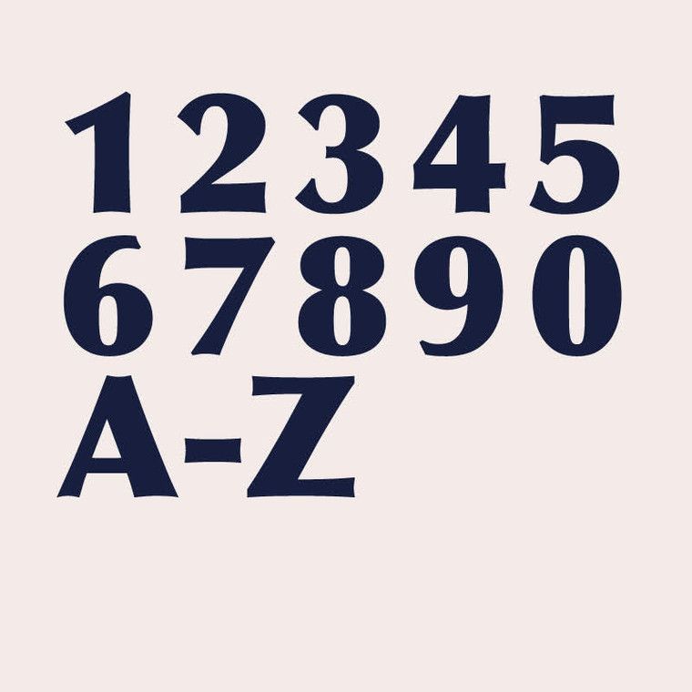 Optima extra bold transitional sans serif font for house numbers, letters and signs