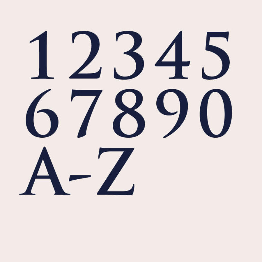 Custom House Number Font - Tragan Pro   dropcapstudio com