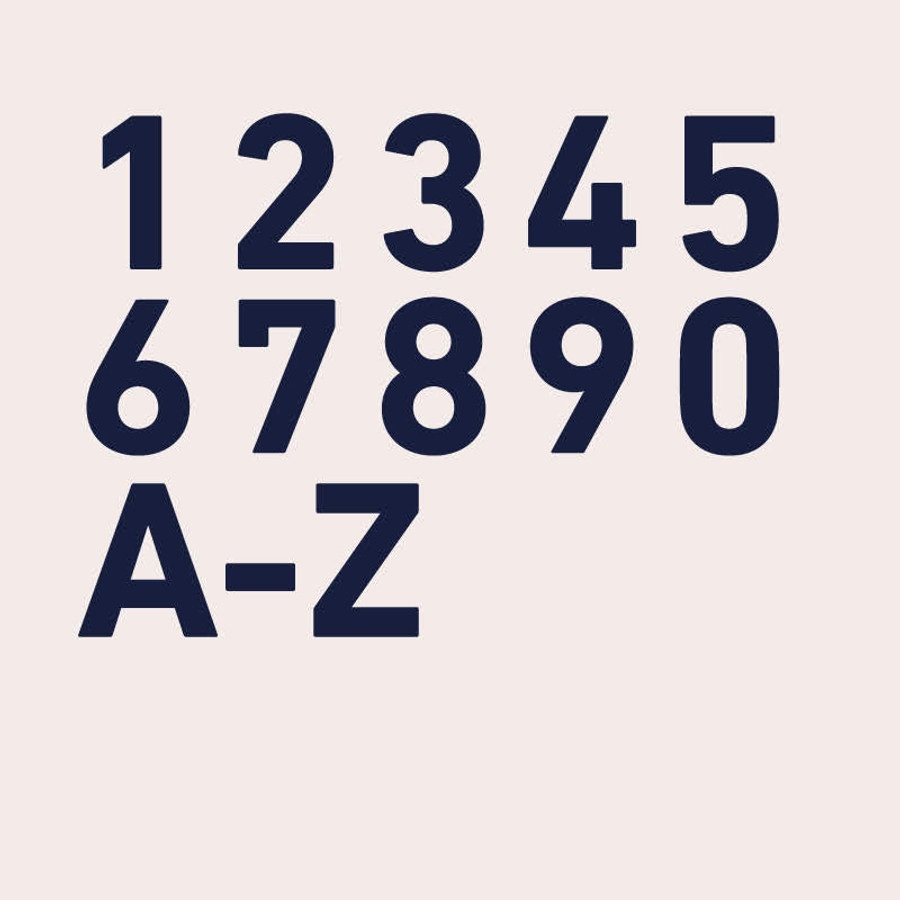 Custom House Number Font - Din Bold | dropcapstudio com