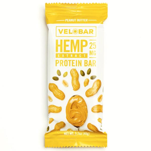 Velobar Hemp Extract 25mg Protein Bar Single Front