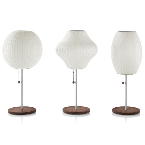 Nelson Pear Lotus Table Lamp by Herman Miller