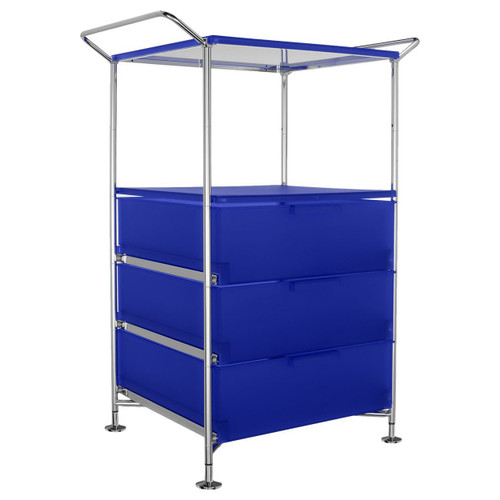 Mobil 3-Drawer Container and Shelf with Feet by Kartell