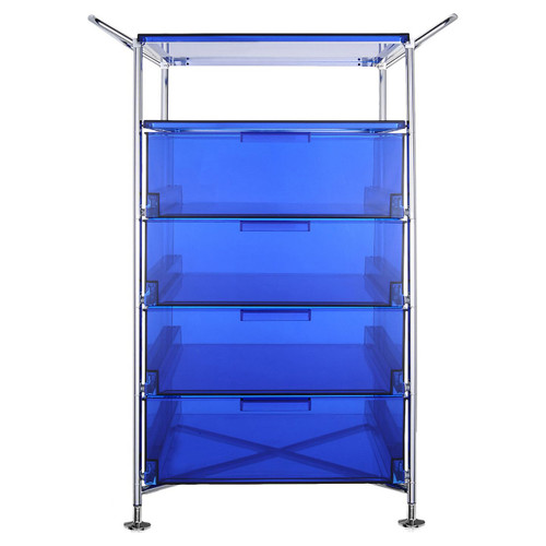 Mobil 4-Drawer Container and Shelf with Feet by Kartell