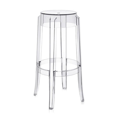 Charles Ghost Stool by Kartell, Set of 2