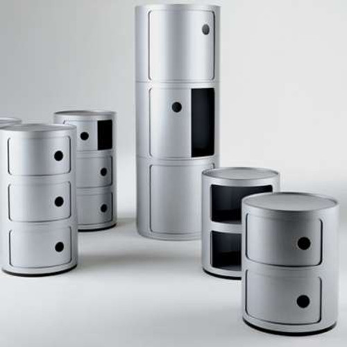 Componibili Small Round Storage Modules by Kartell