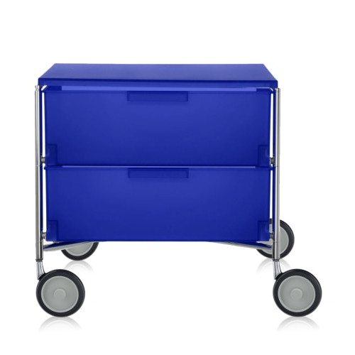 Mobil 2-Drawer Container with Wheels by Kartell