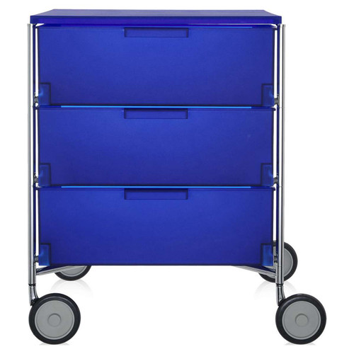 Mobil 3-Drawer Container with Wheels by Kartell