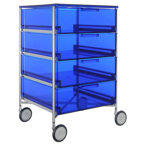 Mobil 4-Drawer Container with Wheels by Kartell