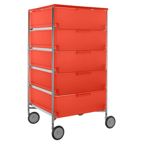 Mobil 5-Drawer Container with Wheels by Kartell