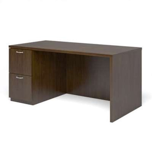 "Currency 60"" Single Pedestal Desk by Steelcase, Left Hand"