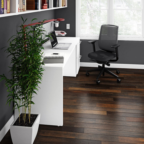"""Currency 72"""" Single Pedestal Desk by Steelcase, Right Hand"""